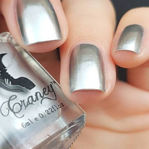 Mirror Nail polish, silver metallic nail polish