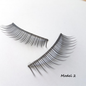 1 Set of Strip Eyelashes, made of fine silk synthetic fiber